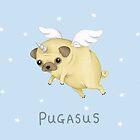 Pugasus by SprawlingPuppy