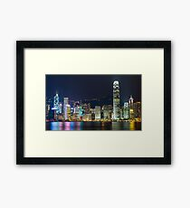 Hong Kong by Night  Framed Print