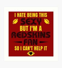 Redskins Fan Girl Quote Art Print