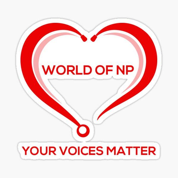 World Of NP Sticker