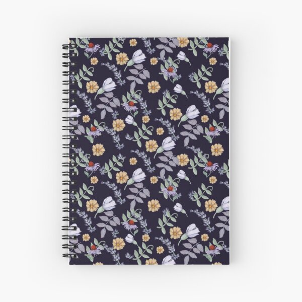 Violet Flowers and little daisy Spiral Notebook