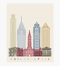 Philadelphia skyline poster Photographic Print