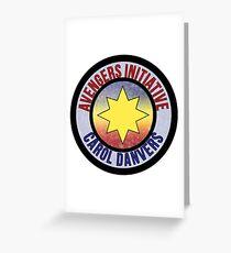 Carol Danvers Avenger Greeting Card
