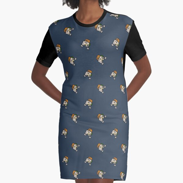 Cantankerous Droid Graphic T-Shirt Dress