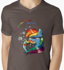 Rainbow - Stache 20% Cooler Mens V-Neck T-Shirt
