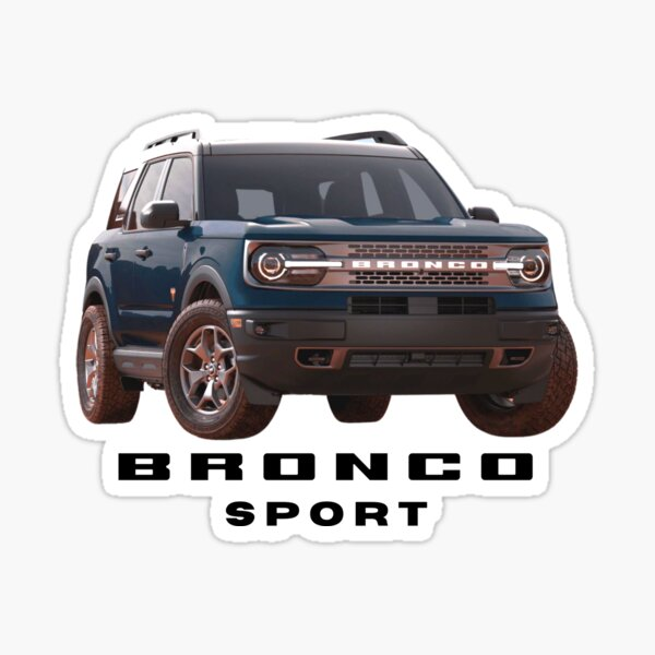 Ford Bronco Sport - Blue Sticker