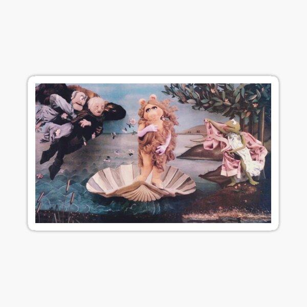 MISS PIGGY BIRTH OF VENUS Sticker