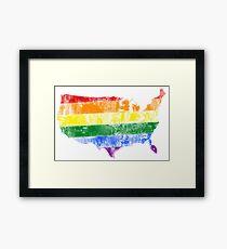 USA Pride Flag Framed Print