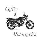 «Café y motocicletas B & W» de itsamoose