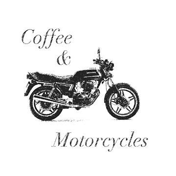 Café y motocicletas B & W de itsamoose