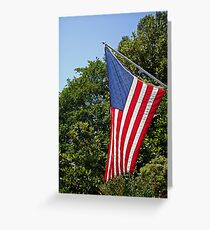 Red, White, Blue - the Stars and Stripes Greeting Card
