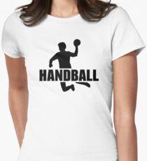 Handball player Women's Fitted T-Shirt