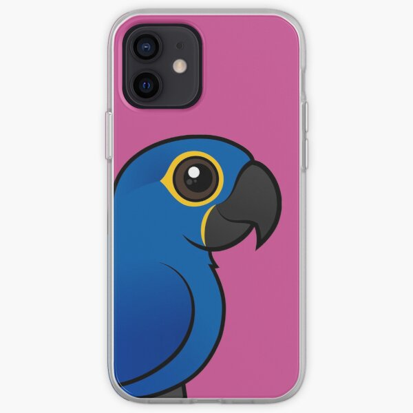 Cute Hyacinth Macaw by Birdorable iPhone Soft Case