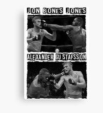 Jon Jones Vs Alexander Gustafsson Canvas Print