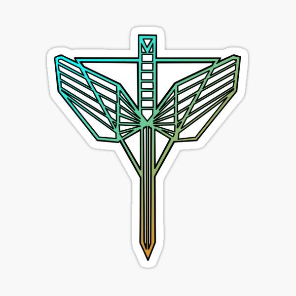 Símbolo de los guardianes del triángulo del río fantasma Pegatina