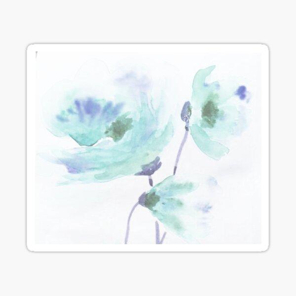 Green Poppies Sticker