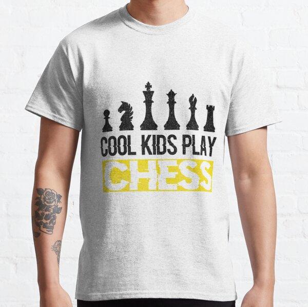 Cool Kids Play Chess Queen King Piece Classic T-Shirt