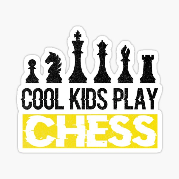 Cool Kids Play Chess Queen King Piece Sticker