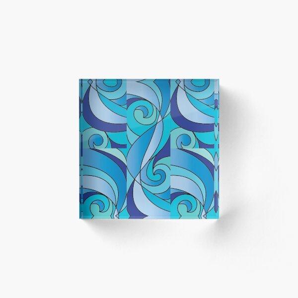 Water Swirl Art Acrylic Block