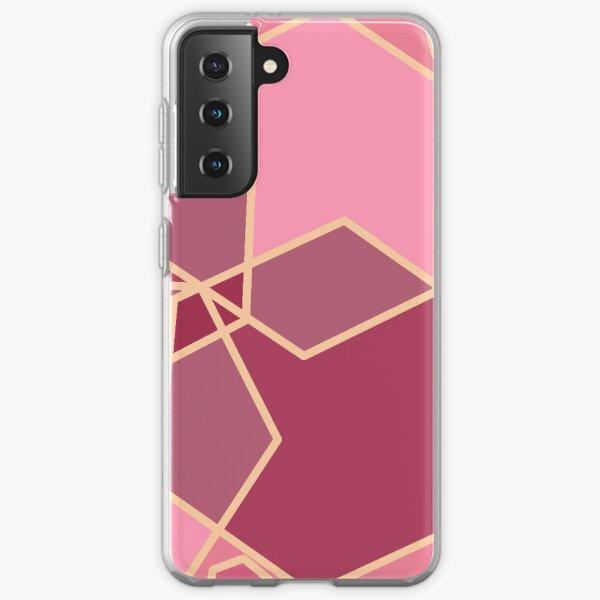 Blush Pink Geometric Pattern  Samsung Galaxy Soft Case