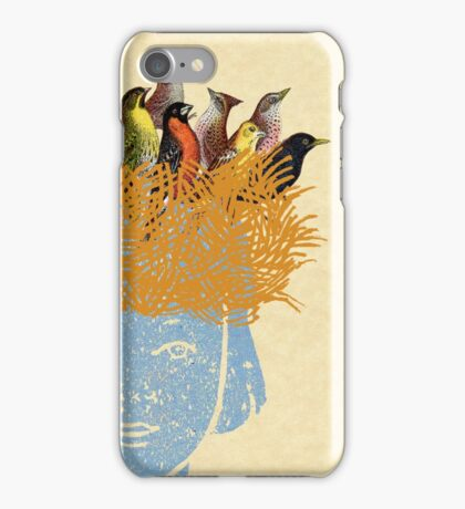 Bird nest head iPhone Case/Skin