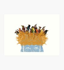 Bird nest head Art Print