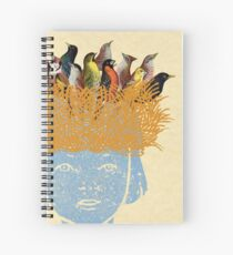 Bird nest head Spiral Notebook