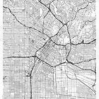 Los Angeles Map Line by HubertRoguski