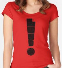 Loud! Typography Series Women's Fitted Scoop T-Shirt