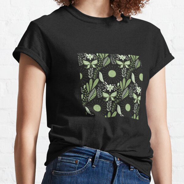 Green Butterfly Abstract Classic T-Shirt
