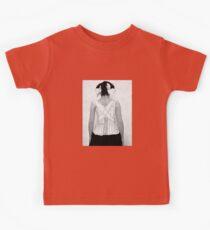 Mysterious Vintage Woman in Corset Kids Tee