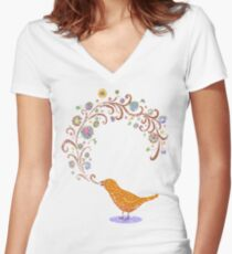 Birdsong Women's Fitted V-Neck T-Shirt