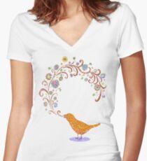 Birdsong Women's Fitted V-Neck T-Shirt