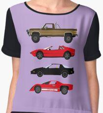 The Car's The Star: Glen A Larson Women's Chiffon Top