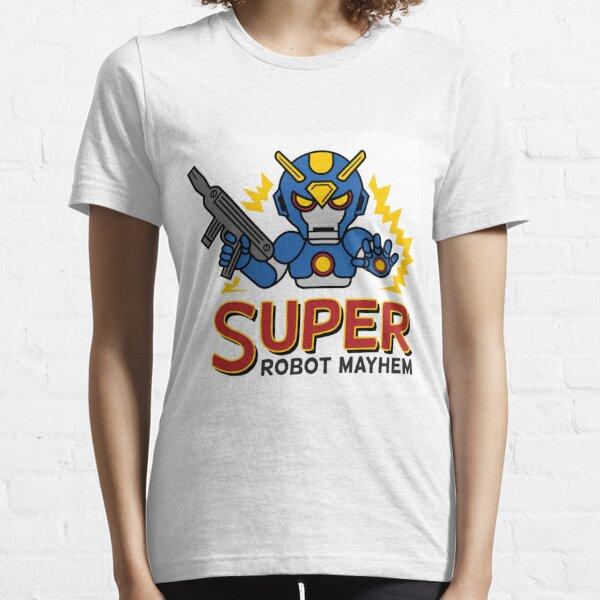 Super Robot Mayhem Blue-Auy Essential T-Shirt