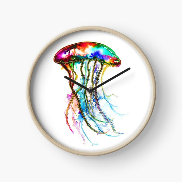 Rainbow Jellyfish Clock