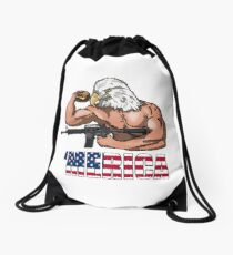 America Drawstring Bag