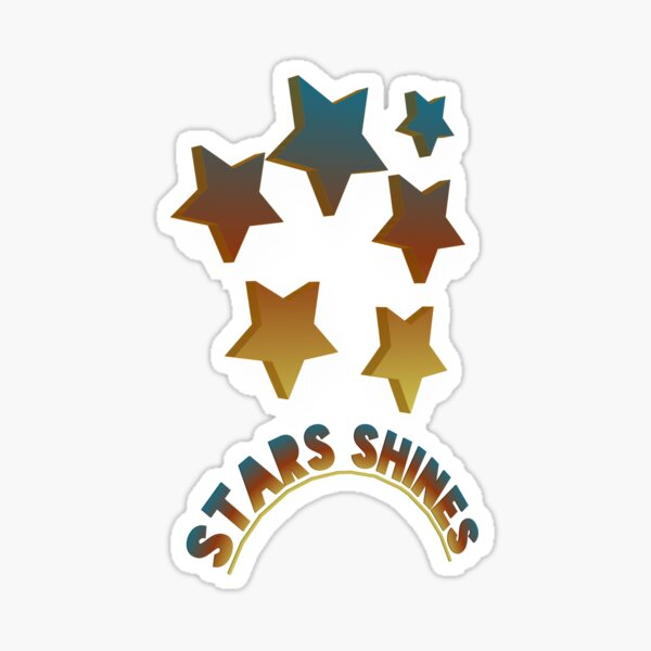 Stars Shines Logo design maker Sticker