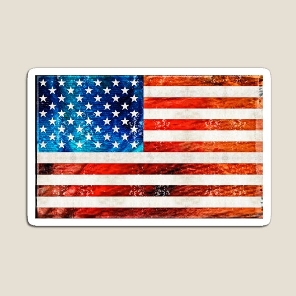 American Flag Art - Old Glory - By Sharon Cummings Magnet