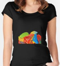 Brushstrokes vers. 2 Women's Fitted Scoop T-Shirt