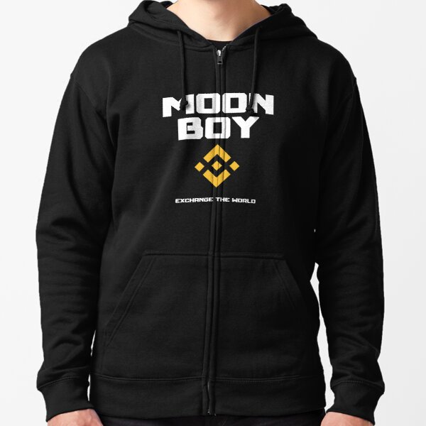 Crypto-monnaie Binance, BNB Moon Boy Veste zippée à capuche