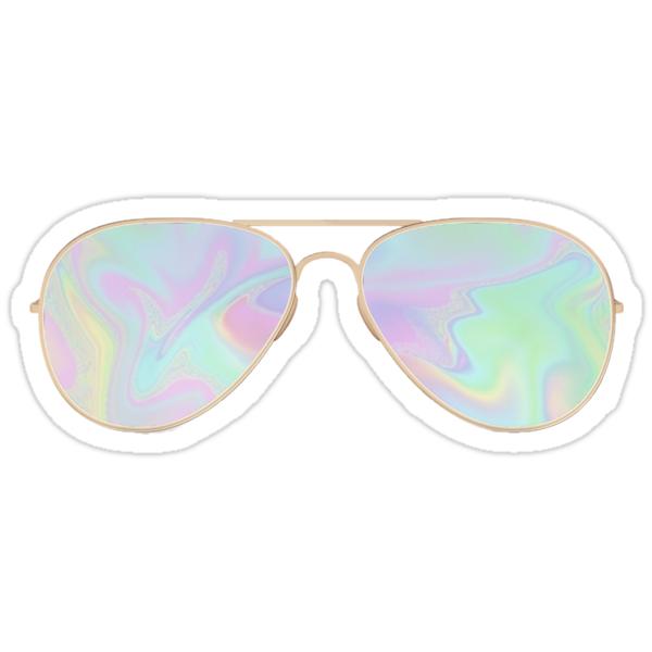 """Trippy Sunglasses"" Stickers by mandyhalper | Redbubble"