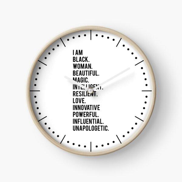 I Am Black Woman   African American   Black Lives Clock