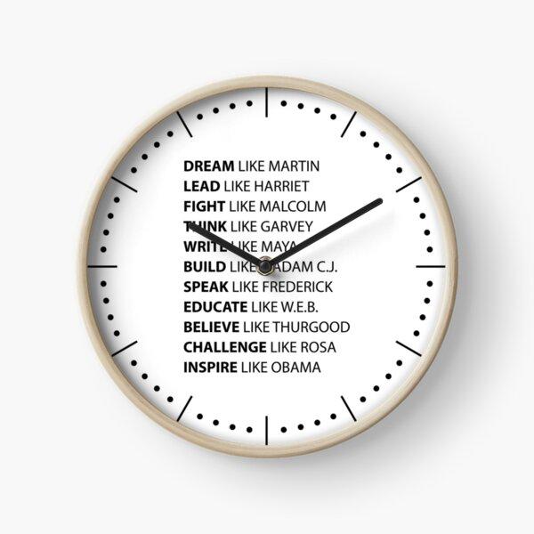 Black Hero | Black History  | African American Civil Rights Leaders Clock
