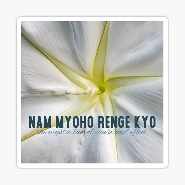Nam Myoho Renge Kyo Flowers Sticker