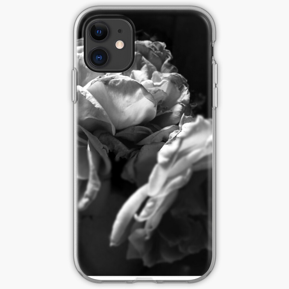 Everything fades - Black and White version from  A Gardener's Notebook iPhone Case & Cover