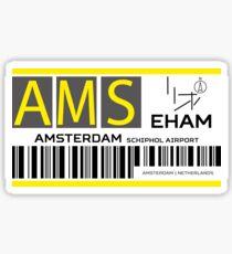 Destination Amsterdam Airport Sticker