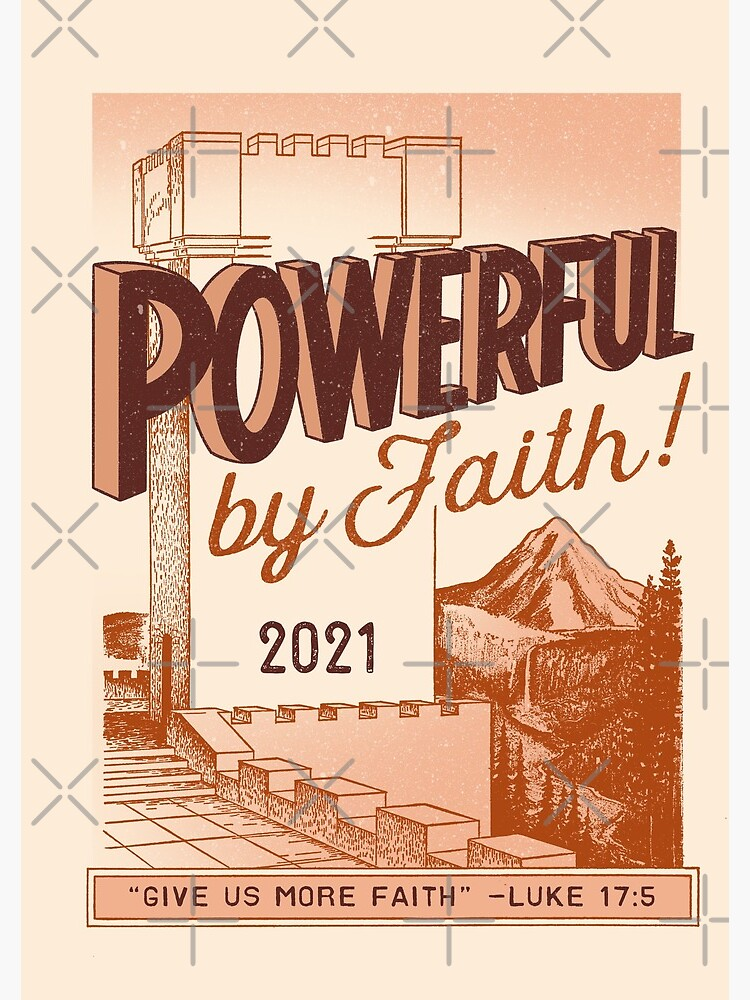 POWERFUL BY FAITH! (Vintage Watchtower) by JenielsonDesign