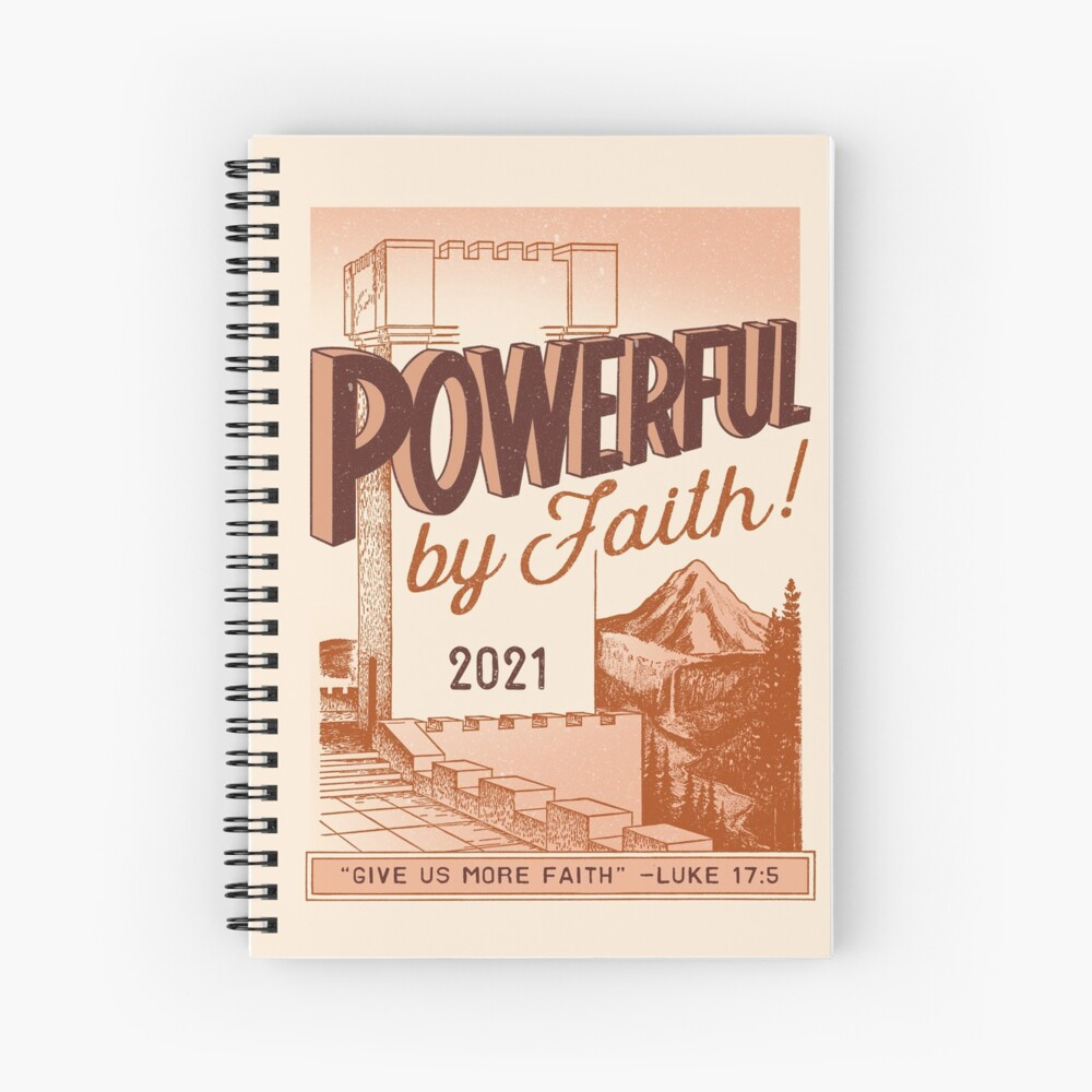 POWERFUL BY FAITH! (Vintage Watchtower) Spiral Notebook