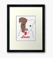 Pit Bull Lover Framed Print